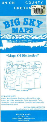 Buy map Union County, Oregon by Big Sky Maps