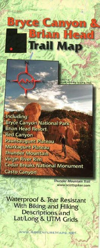 Buy map Bryce Canyon and Brian Head, Trail Map by Adventure Maps