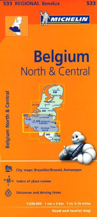 Buy map Brussels, North and Central Belgium (533) by Michelin Maps and Guides