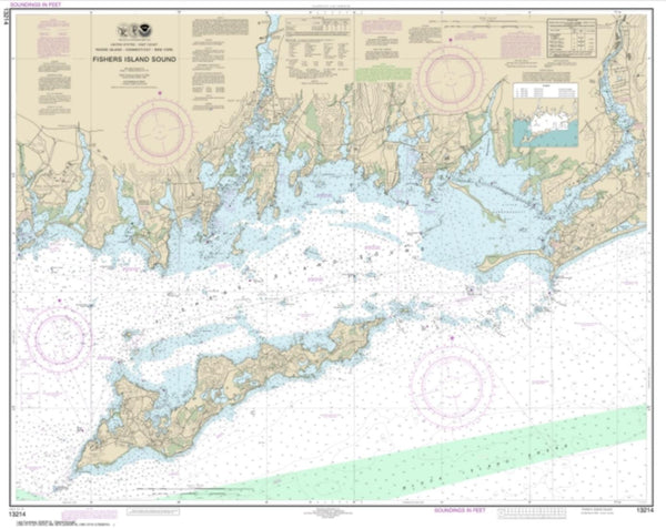 Buy map Fishers Island Sound (13214-30) by NOAA