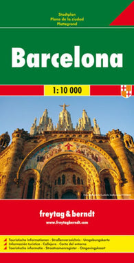 Buy map Barcelona, Spain by Freytag-Berndt und Artaria