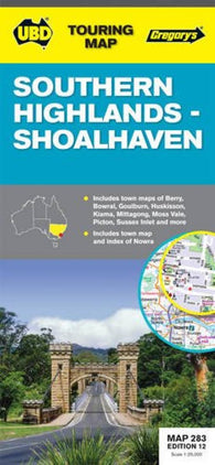 Buy map Southern Highlands and Shoalhaven, Australia by Universal Publishers Pty Ltd
