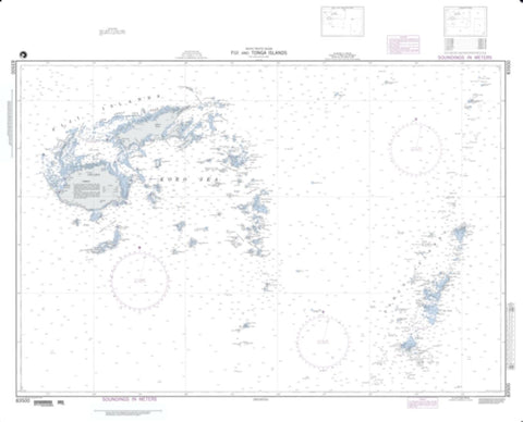 Buy map Fiji And Tonga Islands - South Pacific Ocean (NGA-83500-1) by National Geospatial-Intelligence Agency