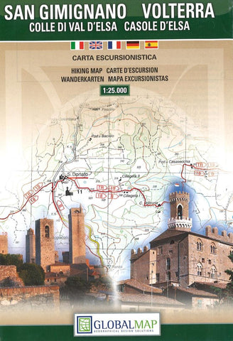 Buy map San Gimignano, Volterra and Casole dElsa, Italy, Hiking by Litografia Artistica Cartografica