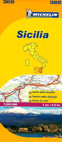 Buy map Sicily, Italy (365) by Michelin Maps and Guides