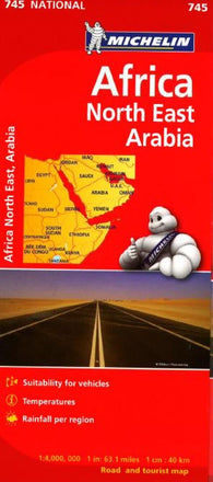 Buy map Africa, Northeast & Arabia (745) by Michelin Maps and Guides