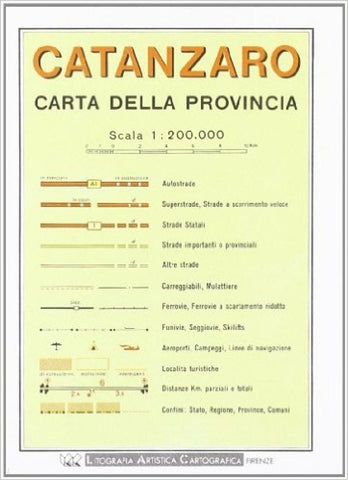 Buy map Catanzaro Province, Italy by Litografia Artistica Cartografica