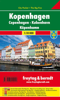 Buy map Copenhagen, Denmark, City Pocket Map by Freytag-Berndt und Artaria