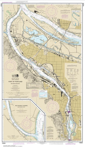 Buy map Port of Portland, Including Vancouver; Multnomah Channel-southern part (18526-60) by NOAA