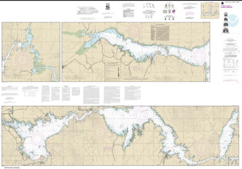 Buy map Lake Mead (18687-13) by NOAA