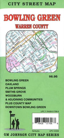 Buy map Bowling Green and Warren County, KY by GM Johnson