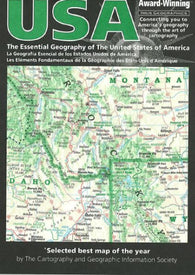 Buy map USA, The Essential Geography of the by Imus Geographics