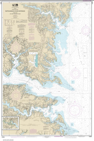 Buy map Chesapeake Bay Rappahannock River Entrance, Piankatank and Great Wicomico Rivers (12235-34) by NOAA
