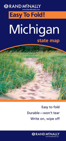 Buy map Michigan, Easy to Fold by Rand McNally