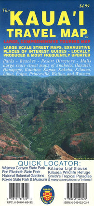 Buy map The Kauai Travel Map by Phears Hawaii Maps