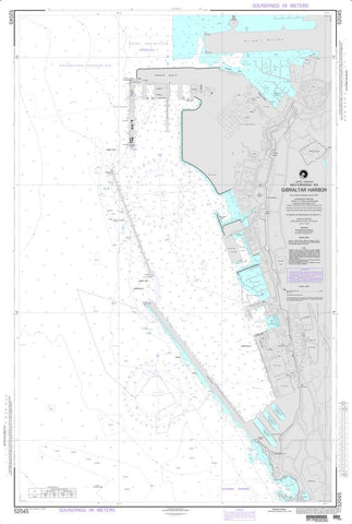 Buy map Gibraltar Harbor (NGA-52045) by National Geospatial-Intelligence Agency
