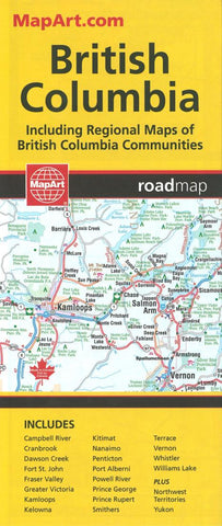 Buy map British Columbia Road Map by MapArt Publishing