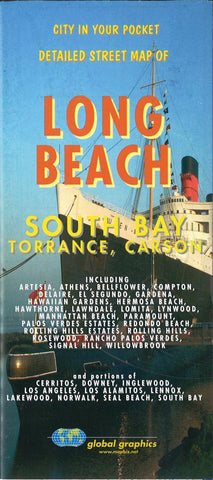 Buy map Long Beach-South Bay, Torrance and Carson, California by Global Graphics