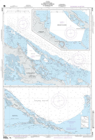 Buy map Elizabeth Harbour And Approaches (NGA-26286-2) by National Geospatial-Intelligence Agency