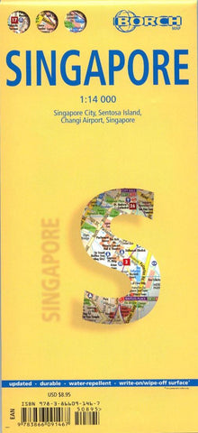 Buy map Singapore by Borch GmbH.