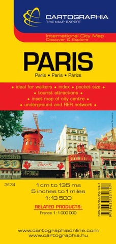 Buy map Paris, France by Cartographia