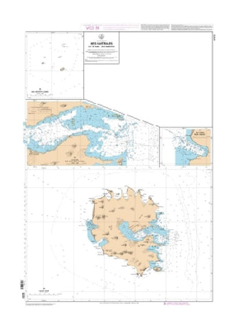Buy map lles Australes -Ile de Rapa, Ties de Morotiri by SHOM