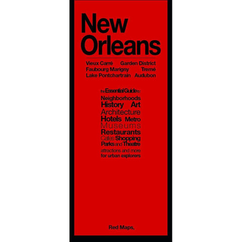 Buy map New Orleans, LA: French Quarter, Downtown, Garden District, City Park, Audubon, Uptown, Marigny by Red Maps