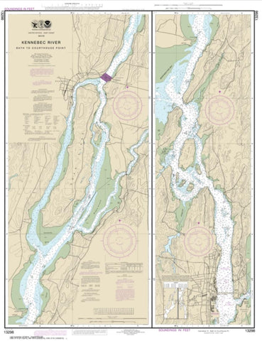 Buy map Kennebec River Bath to Courthouse Point (13298-11) by NOAA