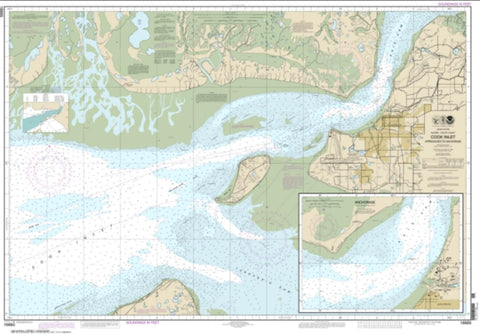 Buy map Cook Inlet-Approaches to Anchorage; Anchorage (16665-10) by NOAA