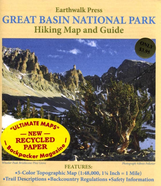 Buy map Great Basin National Park, Nevada, Hiking Map and Guide by Earthwalk Press