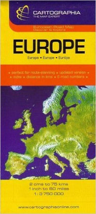 Buy map Europe by Cartographia