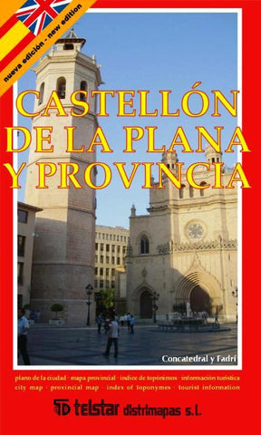 Buy map Castellon de la Plana and Province, Spain by Distrimapas Telstar, S.L.