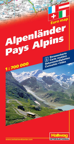 Buy map Alpine Countries by Hallwag