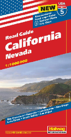 Buy map USA 5: California and Nevada by Hallwag