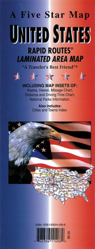 Buy map United States Interstate Rapid Routes by Five Star Maps, Inc.