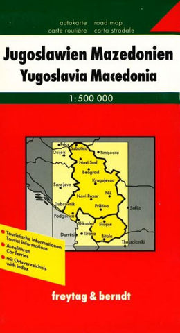 Buy map Yugoslavia and Macedonia by Freytag-Berndt und Artaria