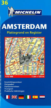 Buy map Amsterdam, Netherlands (36) by Michelin Maps and Guides