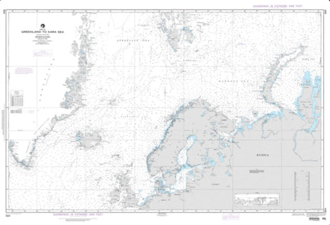 Buy map Greenland To Kara Sea (NGA-804-5) by National Geospatial-Intelligence Agency