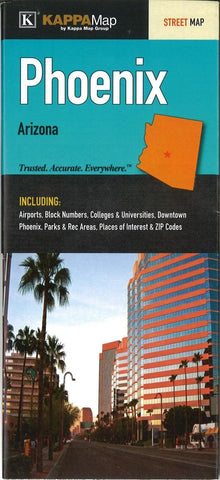 Buy map Phoenix AZ Fold Map by Kappa Map Group YellowMaps Map Store