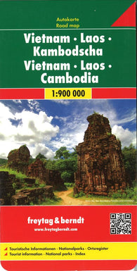 Buy map Vietnam, Laos, and Cambodia by Freytag-Berndt und Artaria