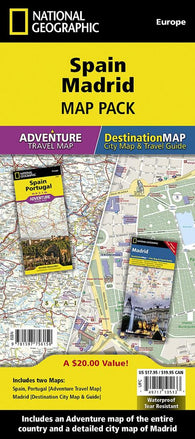 Buy map Spain & Madrid Map Pack Bundle by National Geographic Maps