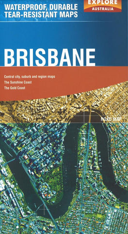 Buy map Brisbane, Australia by Explore Australia