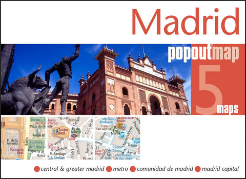 Buy map Madrid, Spain, PopOut Map by PopOut Products