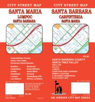 Buy map Santa Barbara, Carpinteria and Santa Maria, California by GM Johnson