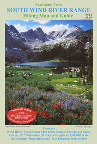 Buy map Wind River Range, Wyoming, Southern, waterproof by Earthwalk Press