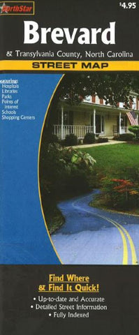 Buy map Brevard & Transylvania County, North Carolina by The Seeger Map Company Inc., NorthernStar (Firm)