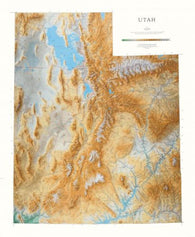 Buy map Utah, Physical Wall Map by Raven Maps
