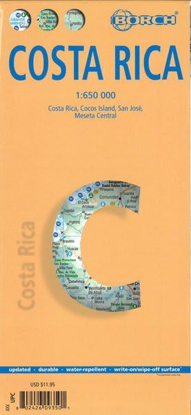 Buy map Costa Rica by Borch GmbH.