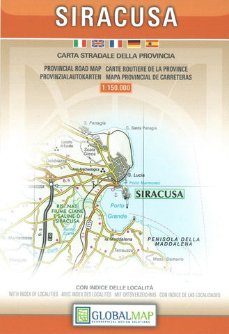 Buy map Siracusa Province, Italy by Litografia Artistica Cartografica