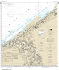 Buy map Cleveland Harbor, including lower Cuyahoga River (14839-37) by NOAA